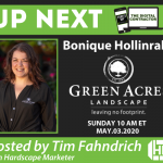 Bonique Hollinrake with Green Acres Landscape |Digital Contractor Show