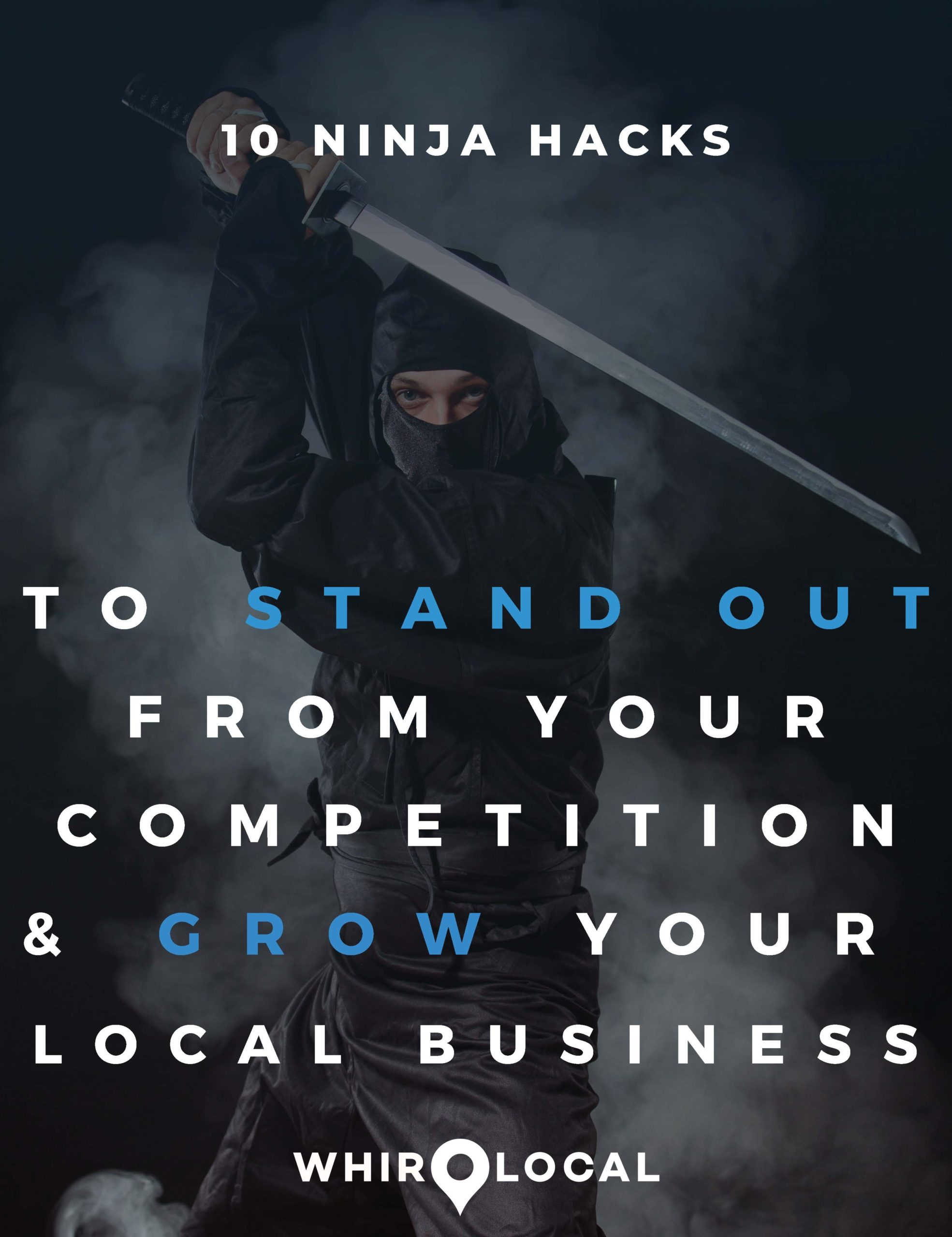 "Download our FREE PDF ""10 Ninja Hacks To Stand Out From Your Competition & Grow Your Local Business"""
